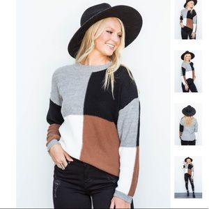 New! Colorblock Sweater